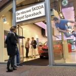 Škoda opent pop up store in Amsterdamse Kalverstraat